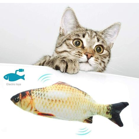 Cat Toy Simulation Fish Fish Electronic Couthern Toy Swing Fish Cat Toy USB Rechargeable Stirring Fish Cat Toy Herb Carp