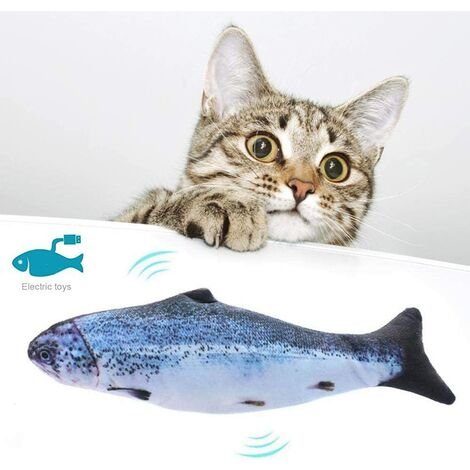Cat Toy Simulation Fish Fish Electronic Couthern Toy Swing Fish Cat Toy USB Rechargeable Stirring Fish Cat Toy Salmon