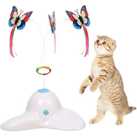 """main image of """"Cat Toys, Funny Exercise Electric Flutter Rotating Kitten Toys, Cat Teaser with Butterfly Replacement"""""""