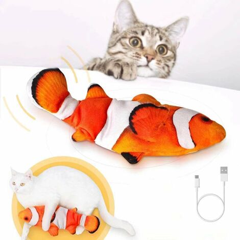 Cat Toys, Realistic Simulation Electronic Fish Toys, Moving Fish Cat Toys, USB Rechargeable Cat Toys, Interactive Cat Chew Toys, Fun Cat Toys