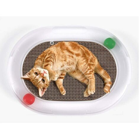 """main image of """"Cat Toys Scratcher Ball Roller Track Cat Ball Tower Puzzle Set Turn Plate Table Design Senses Super Roller Circuit Toy for Cats"""""""