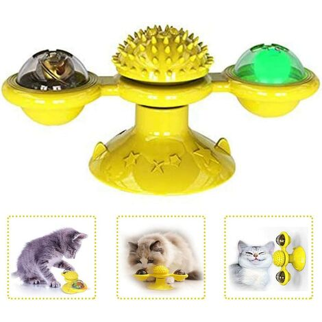 Cat Toys, Swirling Toy, Cat Windmill Turntable Cat Toy Cat Toy Scratching Tickle Crazy Game