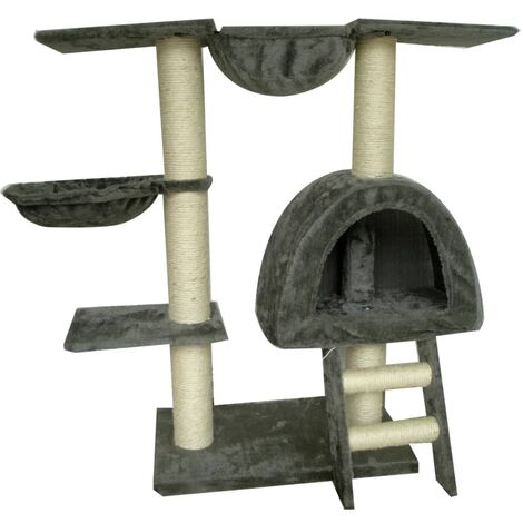 Cat Tree 105 cm with 2 Scratching Posts Animal Pet Supply Cat Toy Bed Cave Basket Playhouse Pole Furniture Multi Colours Multi Patterns