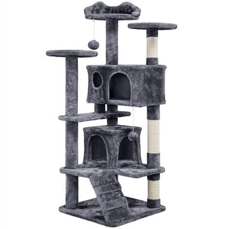 Cat Tree Activity Centre Scratching Post Tower pet palace cat palace,Grey