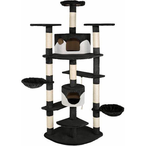 Cat tree Duki - cat scratching post, cat tower, scratching post - black/white - black/white