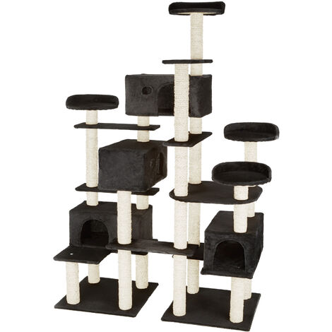 Cat tree Entissar | Adventure towers for cats with scratching posts - cat scratching post, cat tower, scratching post - black
