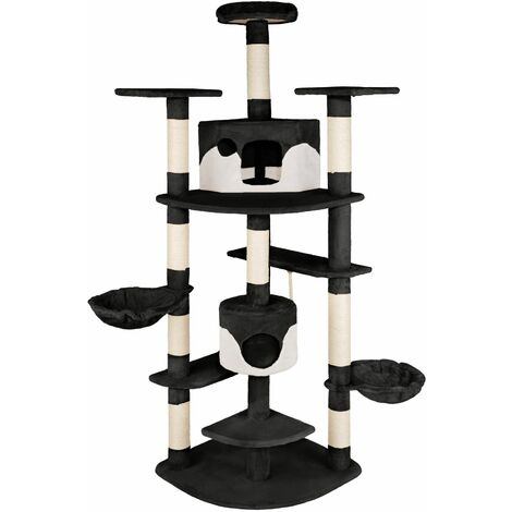 Cat tree Fippi - cat scratching post, cat tower, scratching post - black/white