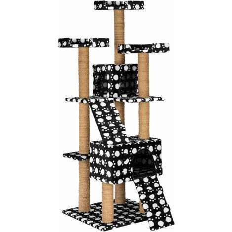 Cat tree Goran - cat scratching post, cat tower, scratching post - black/white