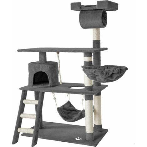 Cat tree Marcel - cat scratching post, cat tower, scratching post - grey - grau