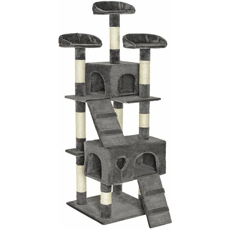 Cat tree Mogli - cat scratching post, cat tower, scratching post - grey