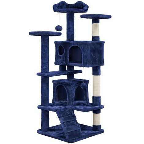 Cat Tree Scratching Post Tower Tree pet palace cat palace,Navy Blue