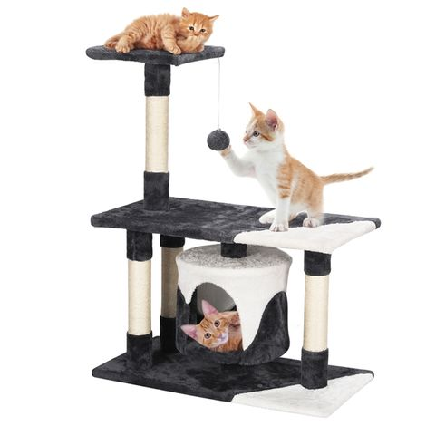 Cat Tree Tower Cat Scratch Posts Kitten Bed House Activity Center with Condo Perch Scratching Posts Furball