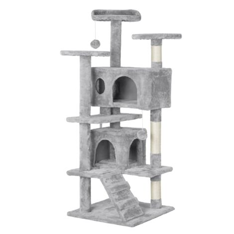 Cat Tree Tower Multilevel Scratching Post Activity Centres,Light Grey