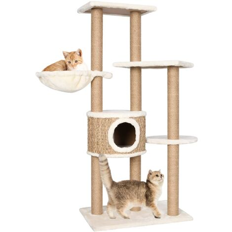 Cat Tree with Scratching Post 126cm Seagrass
