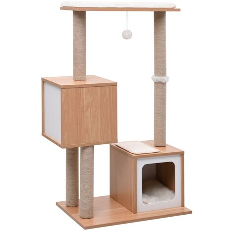 Cat Tree with Sisal Scratching Mat 104 cm