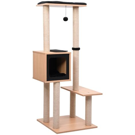Cat Tree with Sisal Scratching Mat 129 cm - Brown