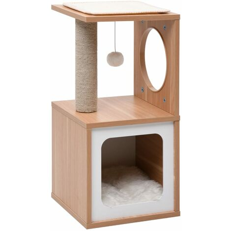 Cat Tree with Sisal Scratching Mat 60 cm - Brown