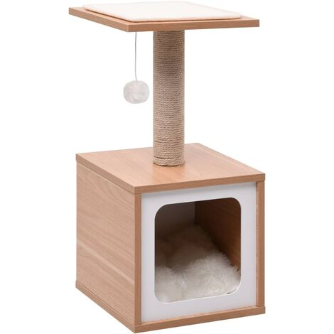 Cat Tree with Sisal Scratching Mat 62 cm - Brown