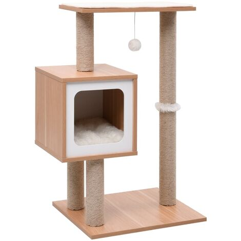 Cat Tree with Sisal Scratching Mat 82 cm - Brown