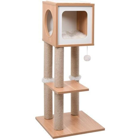 Cat Tree with Sisal Scratching Mat 90 cm - Brown