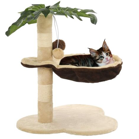 Cat Tree with Sisal Scratching Post 50 cm Beige and Brown