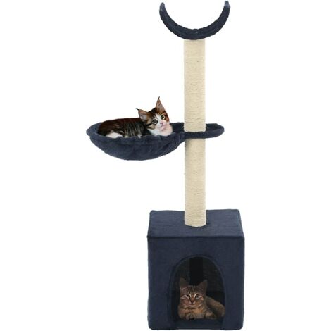 Cat Tree with Sisal Scratching Posts 105 cm Blue