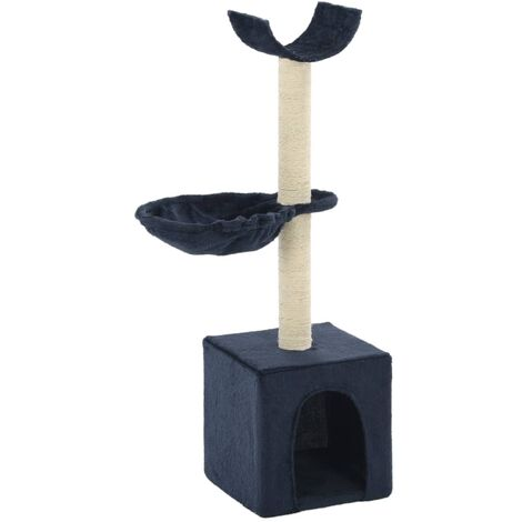 Cat Tree with Sisal Scratching Posts 105 cm Blue - Blue