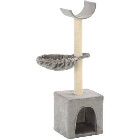 Cat Tree with Sisal Scratching Posts 105 cm Grey - Grey