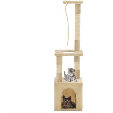 Cat Tree with Sisal Scratching Posts 109 cm Beige - Beige