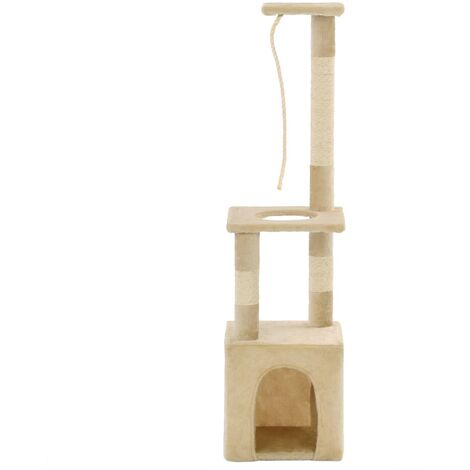 Cat Tree with Sisal Scratching Posts 109 cm Beige