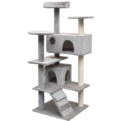 Cat Tree with Sisal Scratching Posts 125 cm Grey