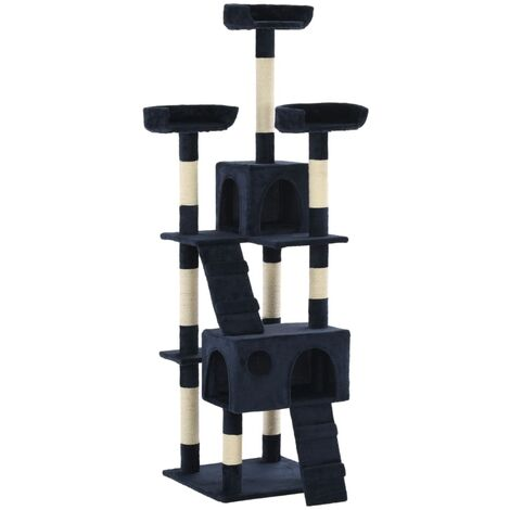 Cat Tree with Sisal Scratching Posts 170 cm Blue - Blue
