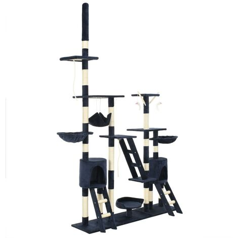 Cat Tree with Sisal Scratching Posts 230-250 cm Blue