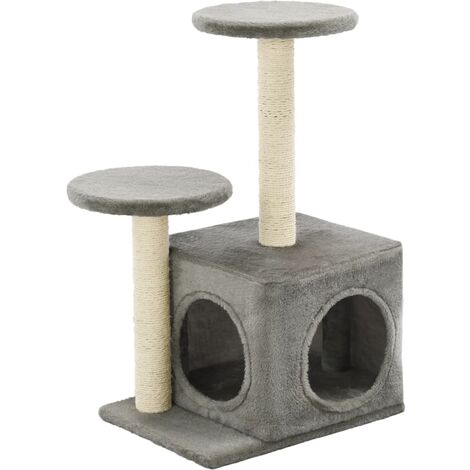 Cat Tree with Sisal Scratching Posts 60 cm Grey