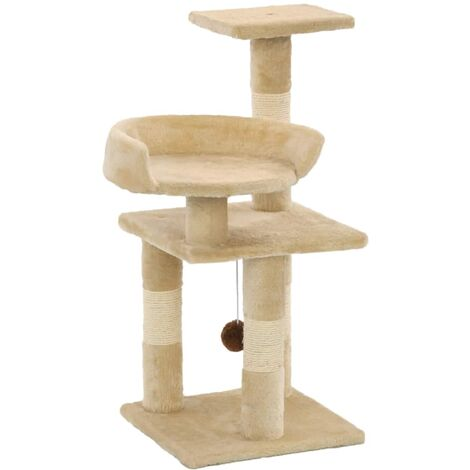 Cat Tree with Sisal Scratching Posts 65 cm Beige