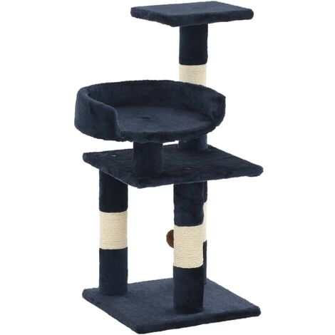Cat Tree with Sisal Scratching Posts 65 cm Blue - Blue