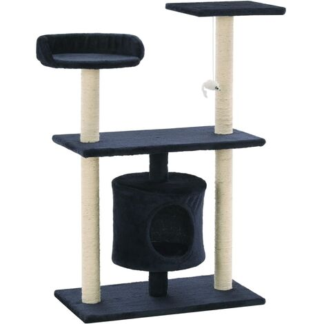 Cat Tree with Sisal Scratching Posts 95 cm Dark Blue