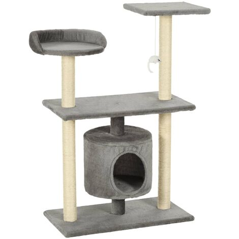 Cat Tree with Sisal Scratching Posts 95 cm Grey
