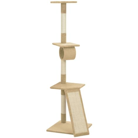 Cat Tree with Sisal Scratching Posts Beige 160 cm