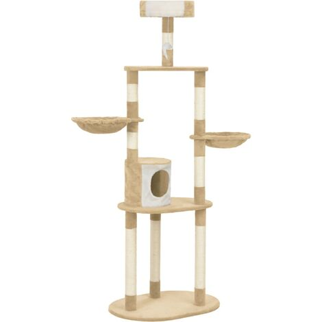 Cat Tree with Sisal Scratching Posts Beige 180 cm