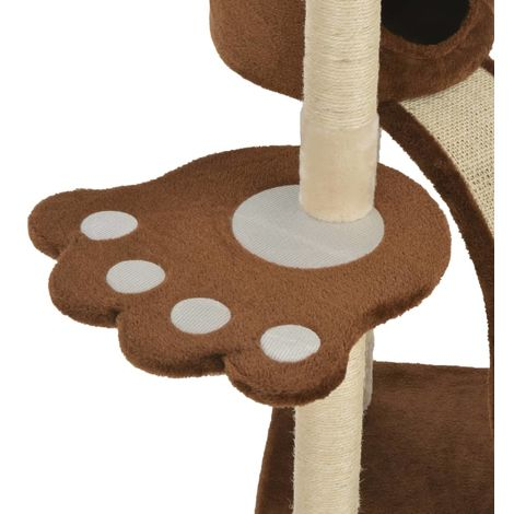 Cat Tree with Sisal Scratching Posts Brown 145 cm