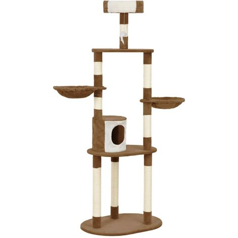 Cat Tree with Sisal Scratching Posts Brown 180 cm