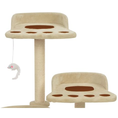 Cat Tree with Sisal Scratching Posts Brown 90 cm