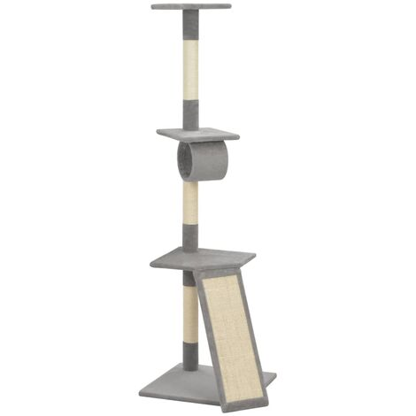 Cat Tree with Sisal Scratching Posts Grey 160 cm - Grey