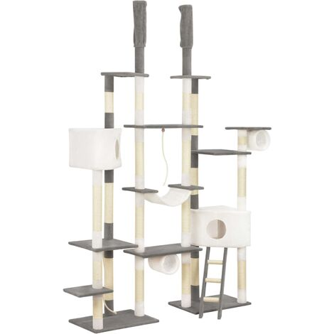 Cat Tree with Sisal Scratching Posts Grey 234 cm