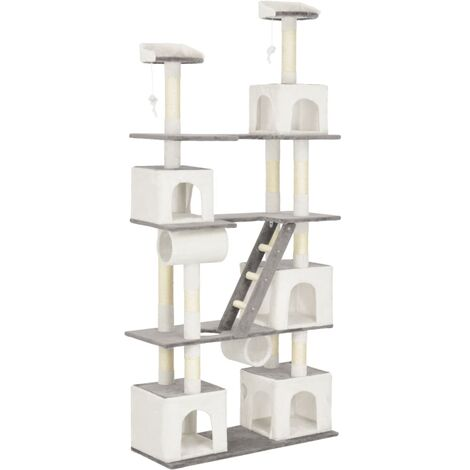 Cat Tree with Sisal Scratching Posts White 225 cm
