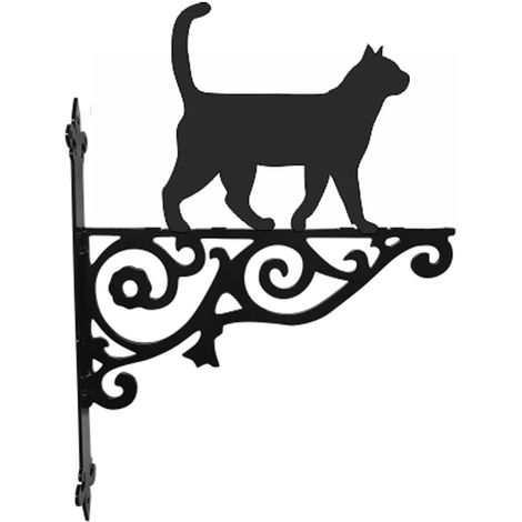 Cat Walking Ornamental Hanging Bracket