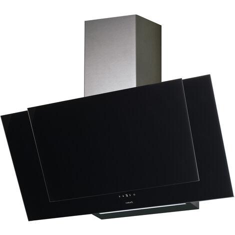 CATA Campana décorativa inclinada VALTO 600 XGBK A+ 60 cm negra