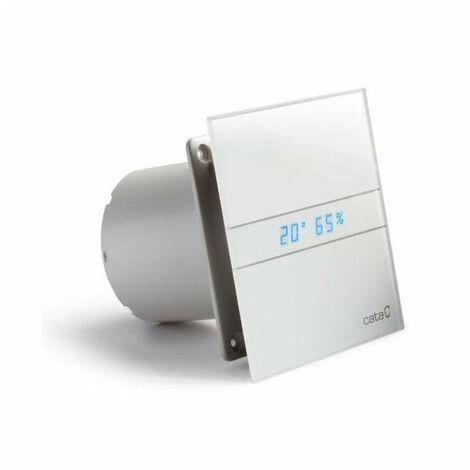Cata E-100 GTH Aérateur extracteur d'air simple flux, Détection d'humidité Hygrostat, Affichage numérique (00900200)