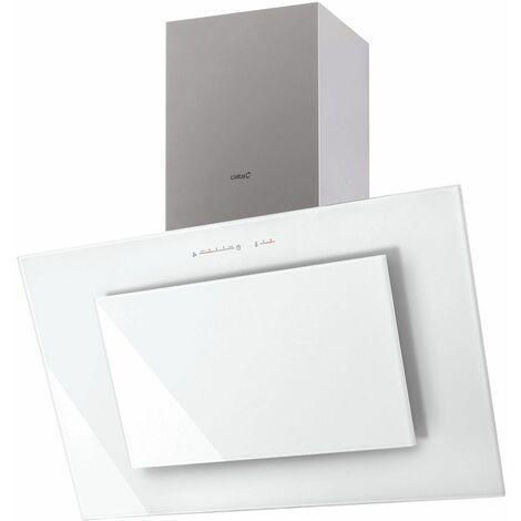 CATA Hotte décorative inclinée TITAN 900XGWH A+ 90cm blanche